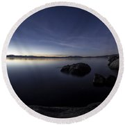 Aspen Glow Round Beach Towel by Brad Scott