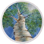 Aspen Light Round Beach Towel