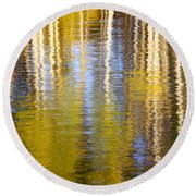Round Beach Towel featuring the photograph Aspen Reflection by Kevin Desrosiers