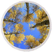 Aspens Skyward Round Beach Towel