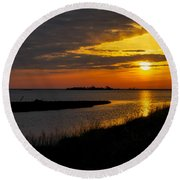 Assateague Sunrise Round Beach Towel