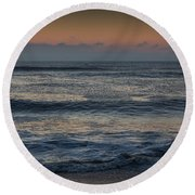 Assateague Waves Round Beach Towel