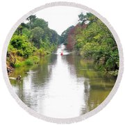 Assawoman Canal - Delaware Round Beach Towel
