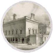 Assembly Rooms, Bath, Circa 1883 Round Beach Towel