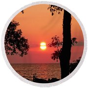 Association Island Sunset Round Beach Towel by Aimee L Maher Photography and Art Visit ALMGallerydotcom