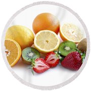 Assorted Fruit Round Beach Towel