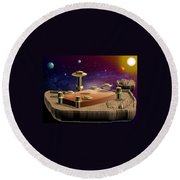 Asteroid Terminal Round Beach Towel by Cyril Maza