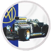 Aston Martin Hot Rod Round Beach Towel