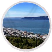 Aaron Berg Photography Round Beach Towel featuring the photograph Astoria Oregon by Aaron Berg