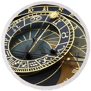 Astronomical Clock Round Beach Towel