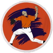 Astros Shadow Player3 Round Beach Towel