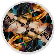 Asturias In G Minor Abstract Round Beach Towel