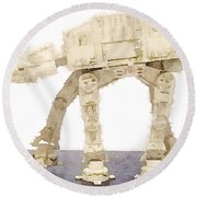At-at All Terrain Armored Transport Round Beach Towel