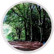Round Beach Towel featuring the photograph At Peace With Nature by Charlie Brock