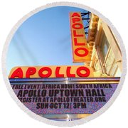 At The Apollo Round Beach Towel