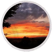 Round Beach Towel featuring the photograph At The End Of The Day ... by Juergen Weiss