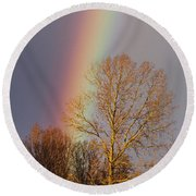At The End Of The Rainbow Round Beach Towel