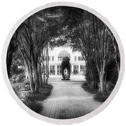 Atlanta Botanical Garden-black And White Round Beach Towel