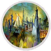 Atlantis Round Beach Towel