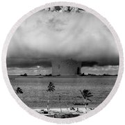 Atomic Bomb Test Round Beach Towel