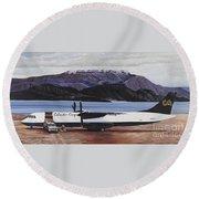 Atr 72 - Arctic Bay Round Beach Towel by Marilyn  McNish