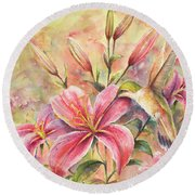 Attractive Fragrance Round Beach Towel