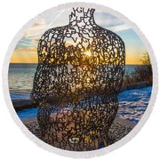 Atwater Spillover Sunrise Round Beach Towel