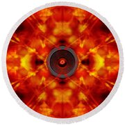 Audio Kaleidoscope Round Beach Towel