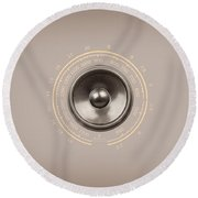 Audio Retro 6 Round Beach Towel