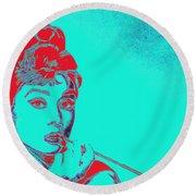 Audrey Hepburn 20130330v2p128 Round Beach Towel