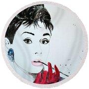 Audrey Hepburn - Original Round Beach Towel