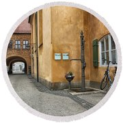 Round Beach Towel featuring the photograph Augsburg Germany by Paul Fearn
