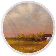 August Afternoon Pa Round Beach Towel