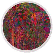 August Moon Round Beach Towel