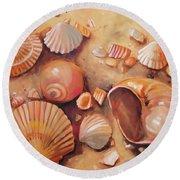 August Shells Round Beach Towel