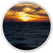 Round Beach Towel featuring the photograph Augustine Sleeps by Jeremy Rhoades