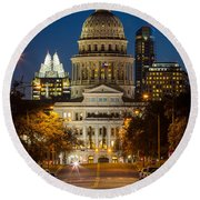 Austin Congress Avenue Round Beach Towel