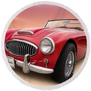 Austin Healey Round Beach Towel by Douglas Pittman