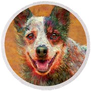 Australian Cattle Dog Round Beach Towel