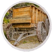 Authentic Ore Wagon Round Beach Towel by Sue Smith