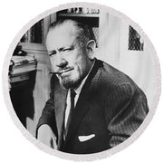 Author John Steinbeck Round Beach Towel