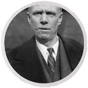 Author Sinclair Lewis Round Beach Towel