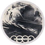 Auto Union Round Beach Towel