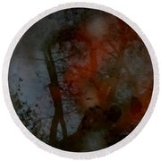 Autumn Abstract Round Beach Towel by Photographic Arts And Design Studio