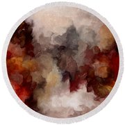 Autumn Abstract Round Beach Towel
