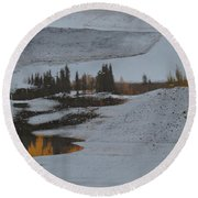 Autumn Arising Round Beach Towel
