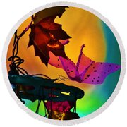 Autumn Assembly Round Beach Towel
