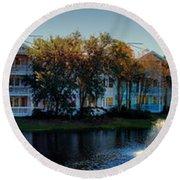 Autumn At Old Key West Resort Panorama Walt Disney World Round Beach Towel