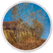 Autumn Bluff Painted Round Beach Towel
