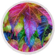 Autumn Bold Round Beach Towel